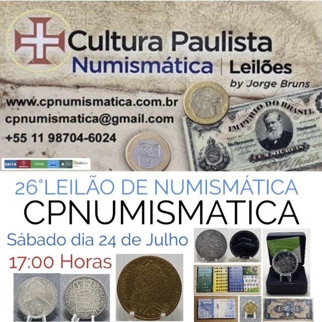 26º LEILÃO CULTURA PAULISTA NUMISMÁTICA