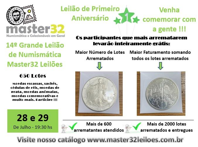 14º Grande Leilão de Numismática - Master32 Leilões