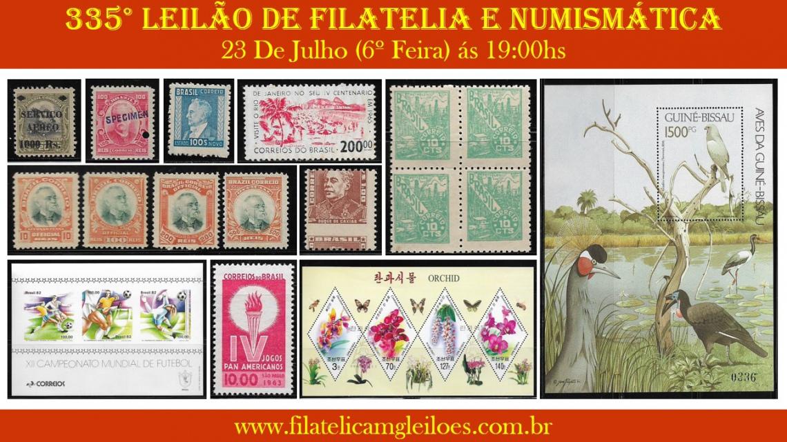 335º Leilão de Filatelia e Numismática