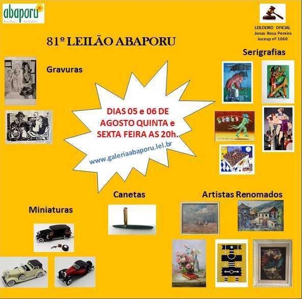 81º LEILÃO DA ABAPORU BRAZILIANS ART GALLERY