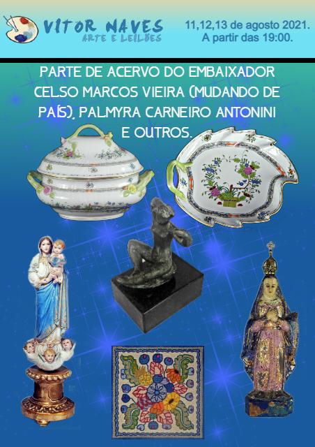 PARTE DE ACERVO DO EMBAIXADOR CELSO MARCOS VIEIRA, PALMYRA CARNEIRO  ANTONINI  E OUTROS.