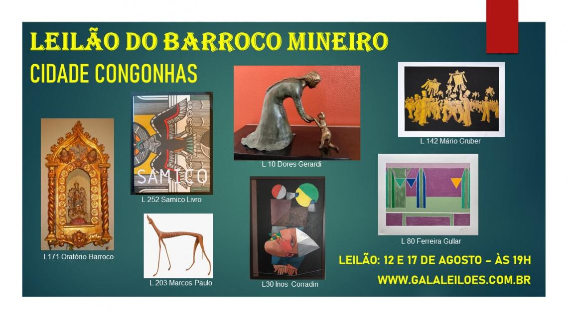 LEILÃO DO BARROCO MINEIRO - CIDADE CONGONHAS