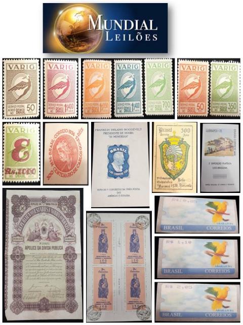 70º Leilão da Mundial Filatélica e Numismática