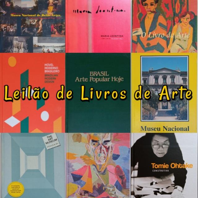 LEILÃO DE LIVROS DE ARTE