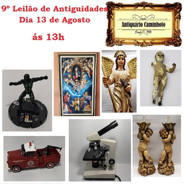 9º LEILÃO ANTIQUÁRIO CAMINHOTO