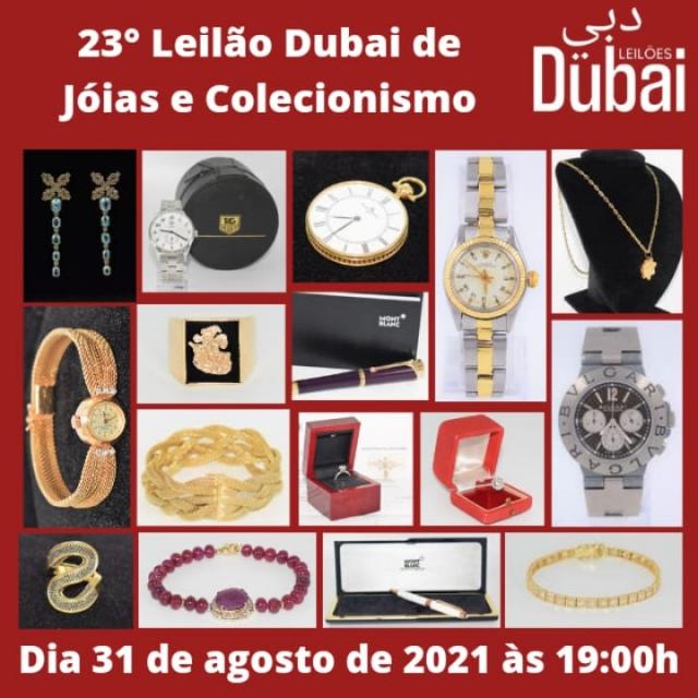 23º LEILÃO DUBAI DE JOIAS E COLECIONISMO.