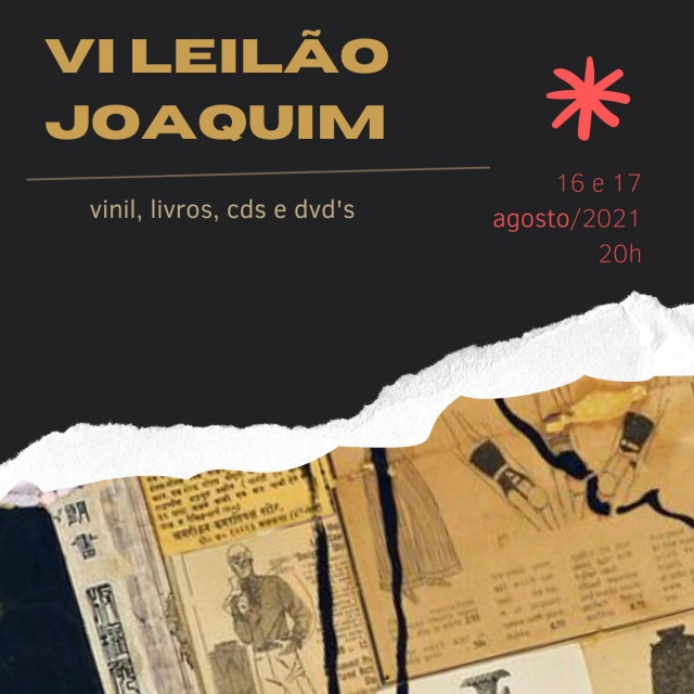 VI LEILÃO JOAQUIM - VINIL, LIVROS, CDS E DVDS