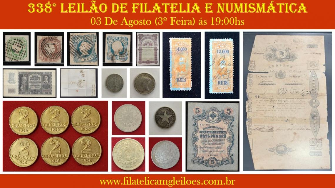 338º Leilão de Filatelia e Numismática