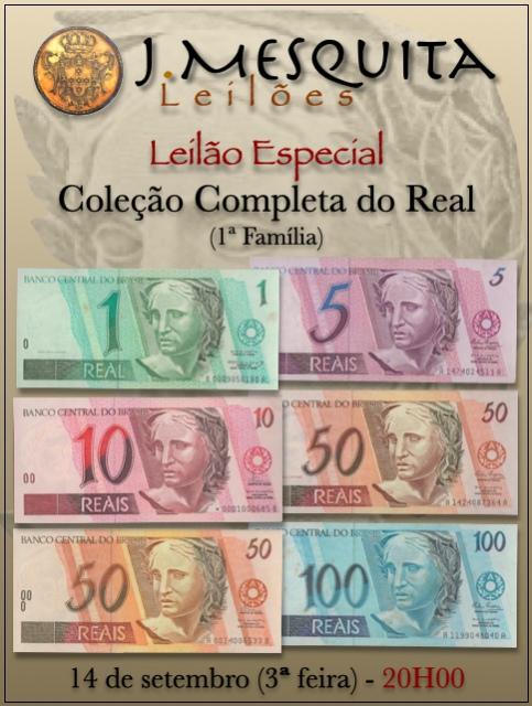 104º LEILÃO J. MESQUITA - COLEÇÃO COMPLETA DE REAL (1ª FAMÍLIA)