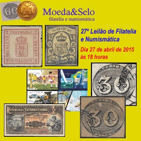 27º Leilão Moeda & Selo de Filatelia  e Numismática