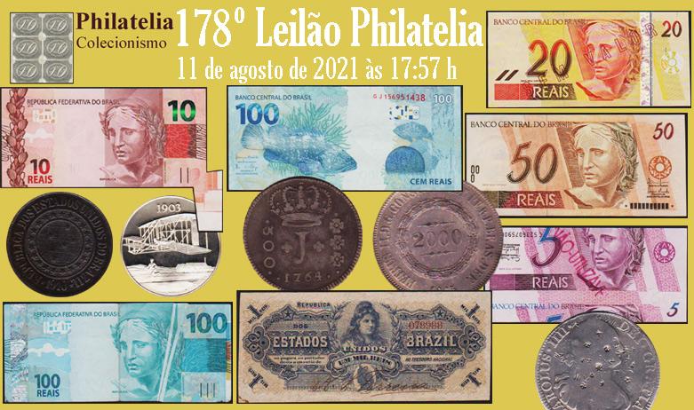 178º Leilão de Filatelia e Numismática - Philatelia Selos e Moedas