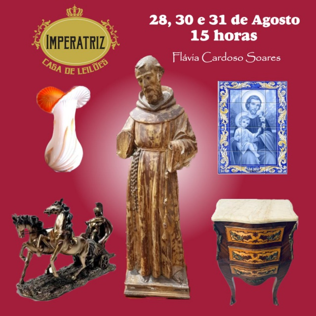 10º Leilão Acervos de Importantes Famílias Paulistas:Antiguidades, Muranos, Joias, Arte Sacra e mais