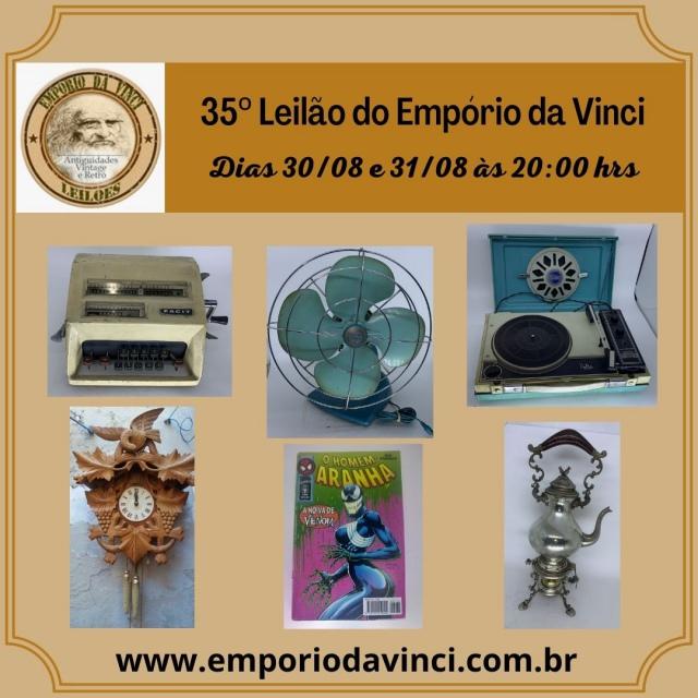 35º Leilão do Empório da Vinci - Cacarecos, Relógios, Gibis, Ferramentas & Oportunidades.