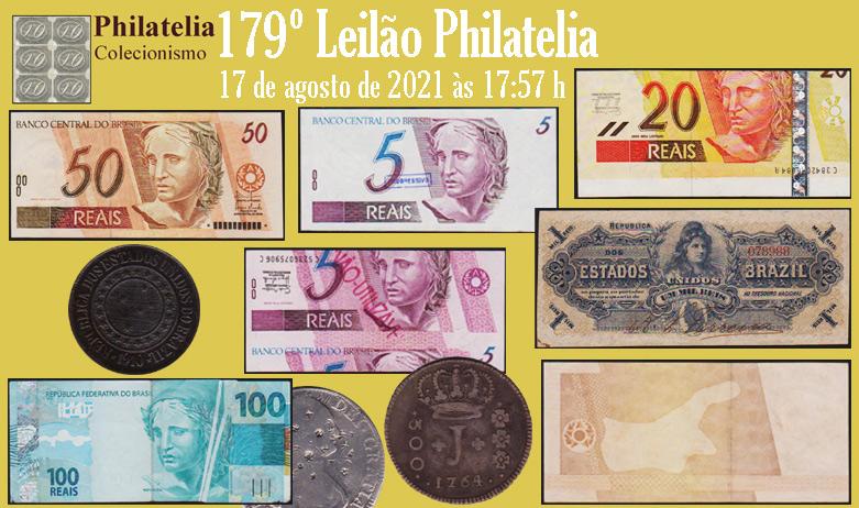 179º Leilão de  Filatelia e Numismática - Philatelia Selos e Moedas