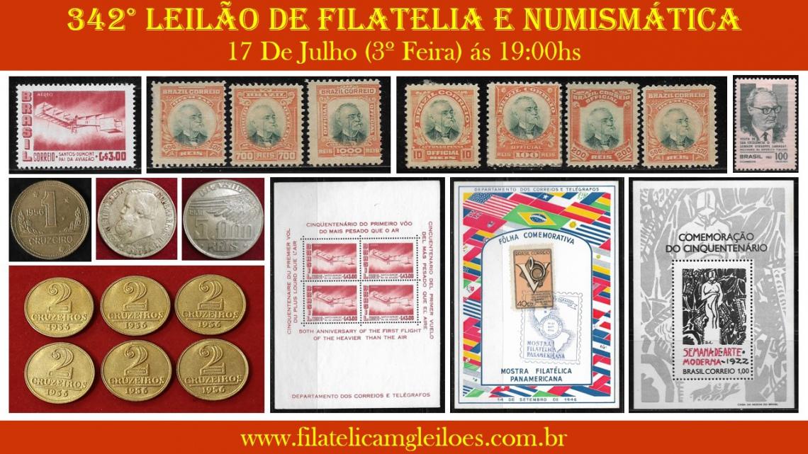 342º Leilão de Filatelia e Numismática