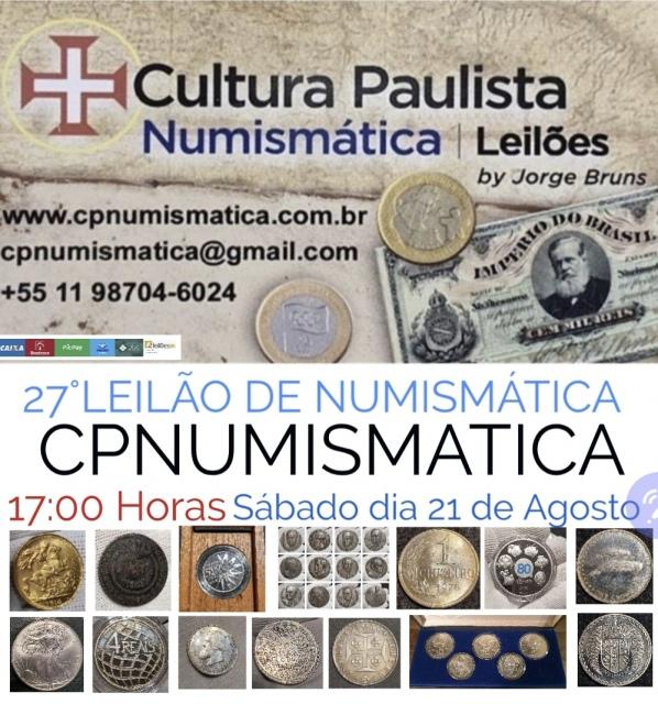 27º LEILÃO CULTURA PAULISTA NUMISMÁTICA