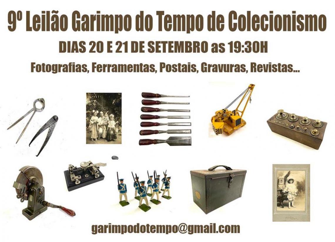 9 º LEILÃO GARIMPO DO TEMPO DE COLECIONISMO