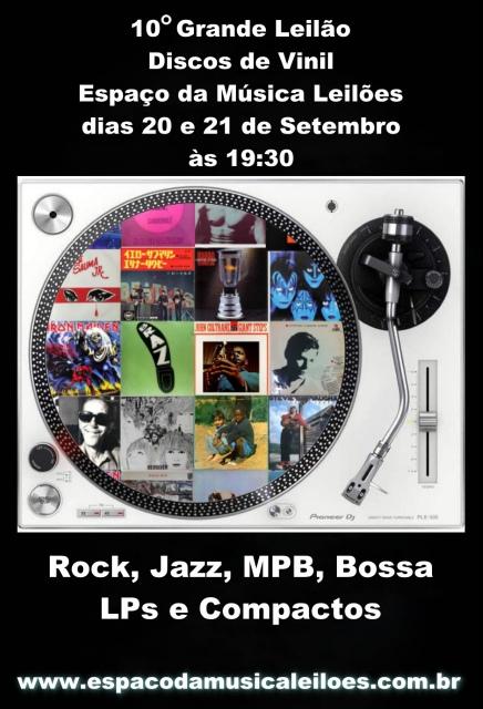 10º Grande Leilão de Discos de Vinil - Espaço da Música Leilões - MPB  Rock - Jazz, Bossa