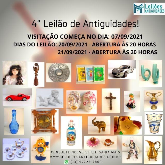 4º LEILÃO DE ANTIGUIDADES.