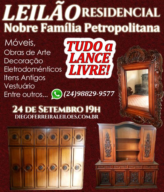 Leilão Residencial Nobre Família Petropolitana - Tudo a Lance Livre!