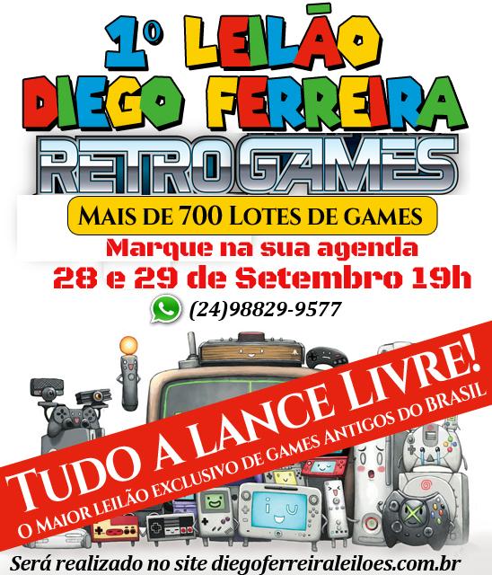 1º Leilão Diego Ferreira Retro Games
