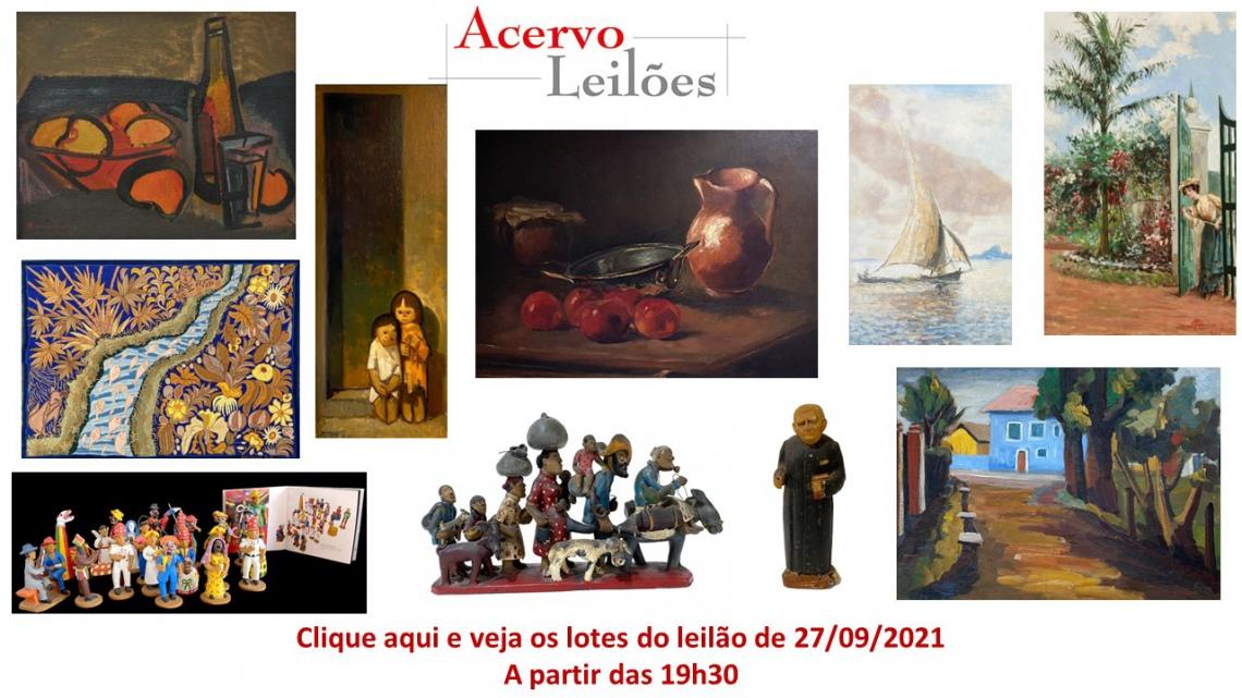 LEILÃO DE ARTE BRASILEIRA, ARTISTA DO SECULO XIX ao XXI - POPULAR, ACADEMICOS E MODERNOS