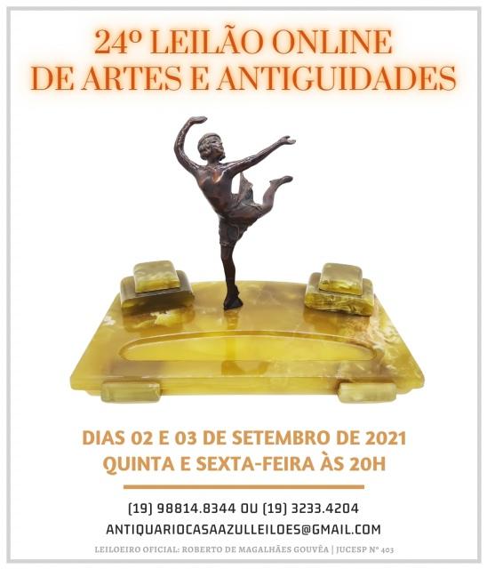 24º LEILÃO DE ARTES E ANTIGUIDADES - 2 e 3 de setembro de 2021 - 20h00