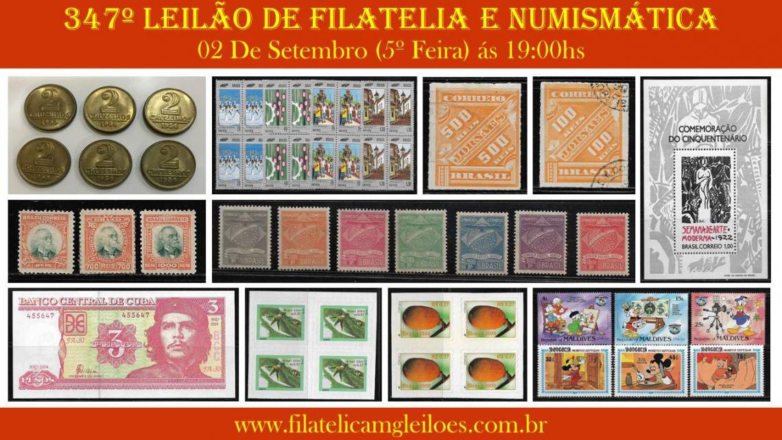 346º Leilão de Filatelia e Numismática