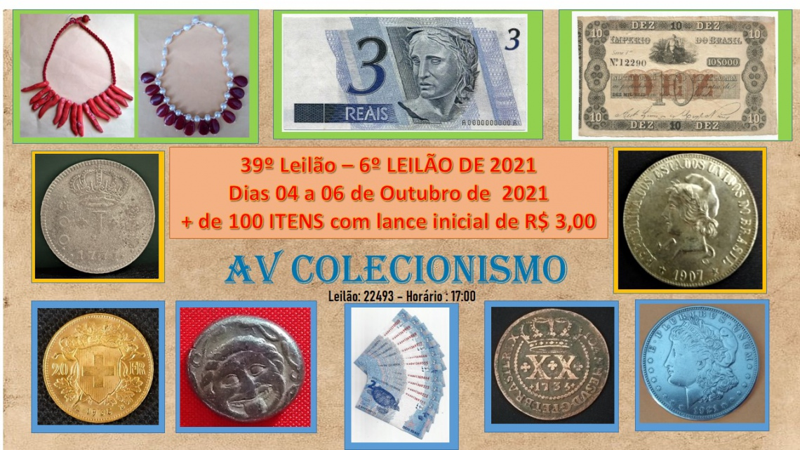 39º Leilão - AVCO - Filatelia - Numismática - Colecionáveis