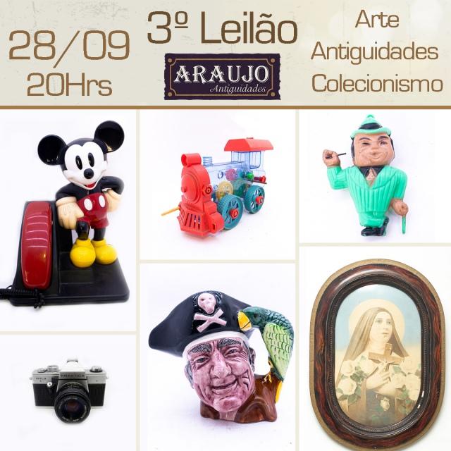 3º LEILÃO DE ARTE, ANTIGUIDADES E COLECIONISMO