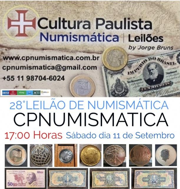 28º LEILÃO CULTURA PAULISTA NUMISMÁTICA