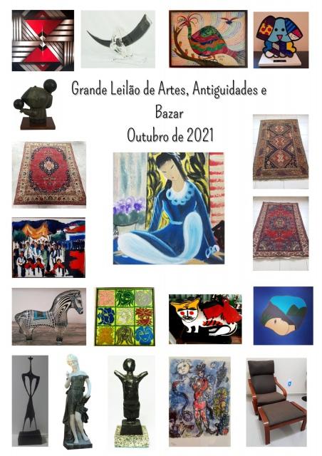 GRANDE LEILÃO DE ARTES, ANTIGUIDADES E BAZAR