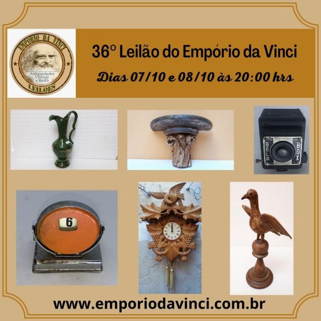 36º Leilão do Empório da Vinci - Cacarecos, Relógios, Ferromodelismo & Oportunidades.