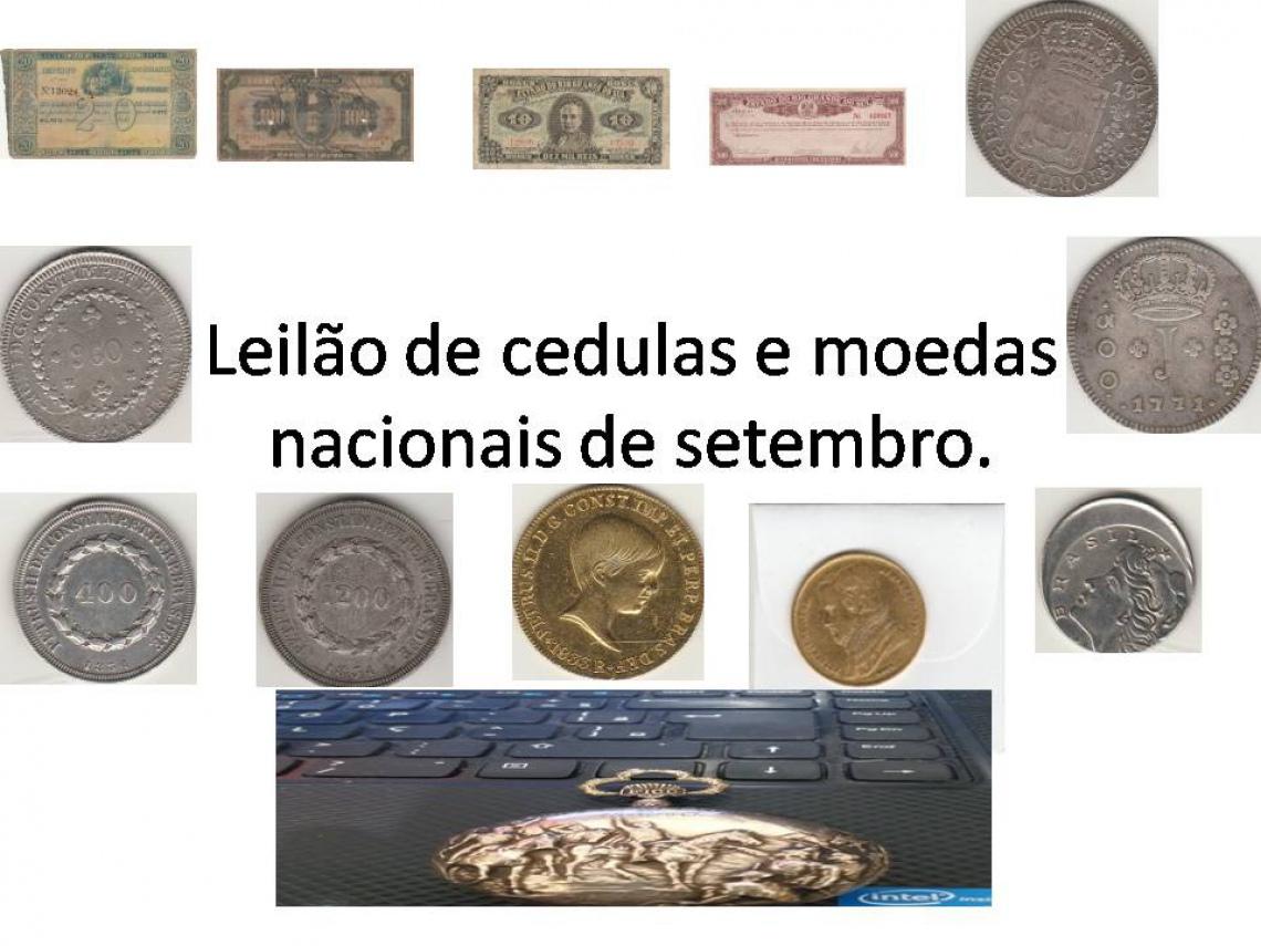 LEILÃO DE CÉDULAS E MOEDAS NACIONAIS DE SETEMBRO - FAUSTÃO NUMISMATICA