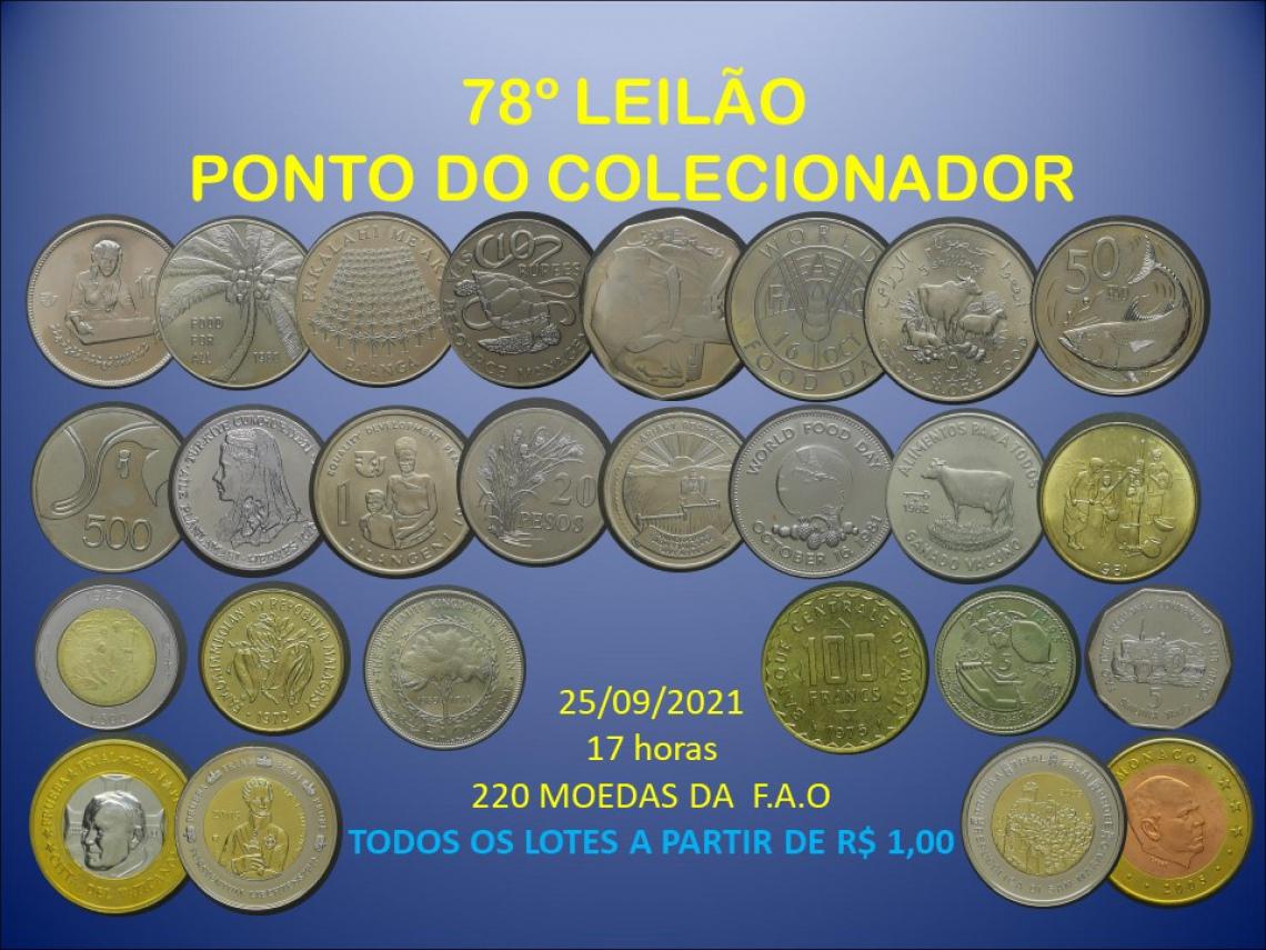 78º LEILÃO PONTO DO COLECIONADOR