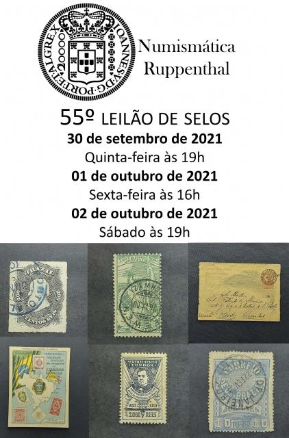 55º LEILÃO DE SELOS - NUMISMÁTICA RUPPENTHAL