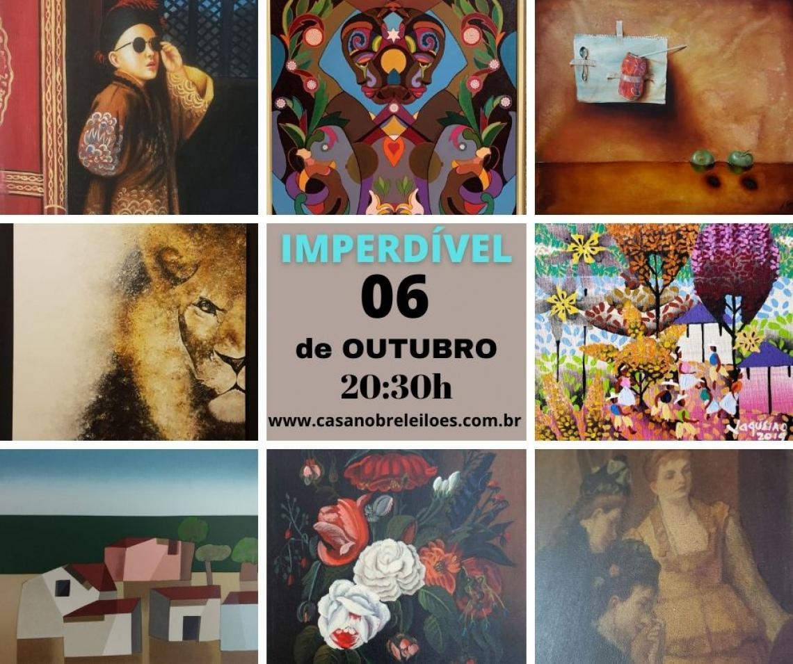 LEILÃO ESPECIAL DE PINTURAS , OBRAS EM PAPEL E LIVROS DE ARTE