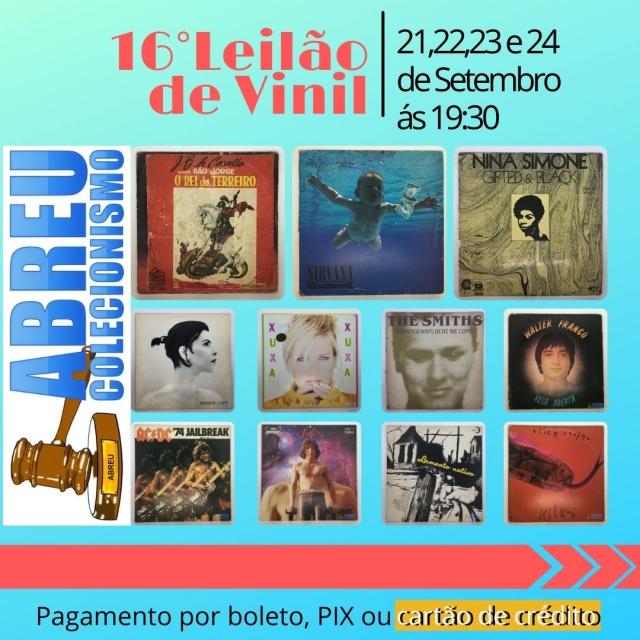 16 LEILÃO DE DISCOS DE VINIL