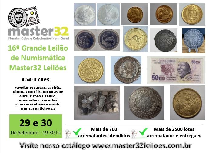 16º Grande Leilão de Numismática - Master32 Leilões