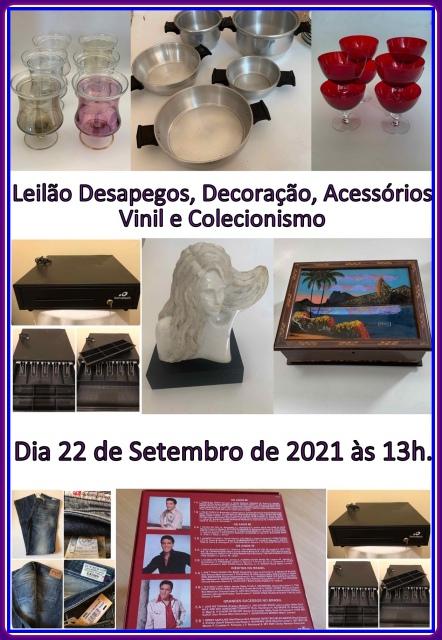 LEILAO DESAPEGOS, DECORAÇAO, ACESSORIOS, VINIL , COLECIONISMO E CATÁLOGOS