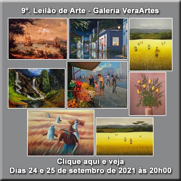 9º Grande Leilão de Quadros - Galeria VeraArtes - 24 e 25 de setembro de 2021 às 20h00