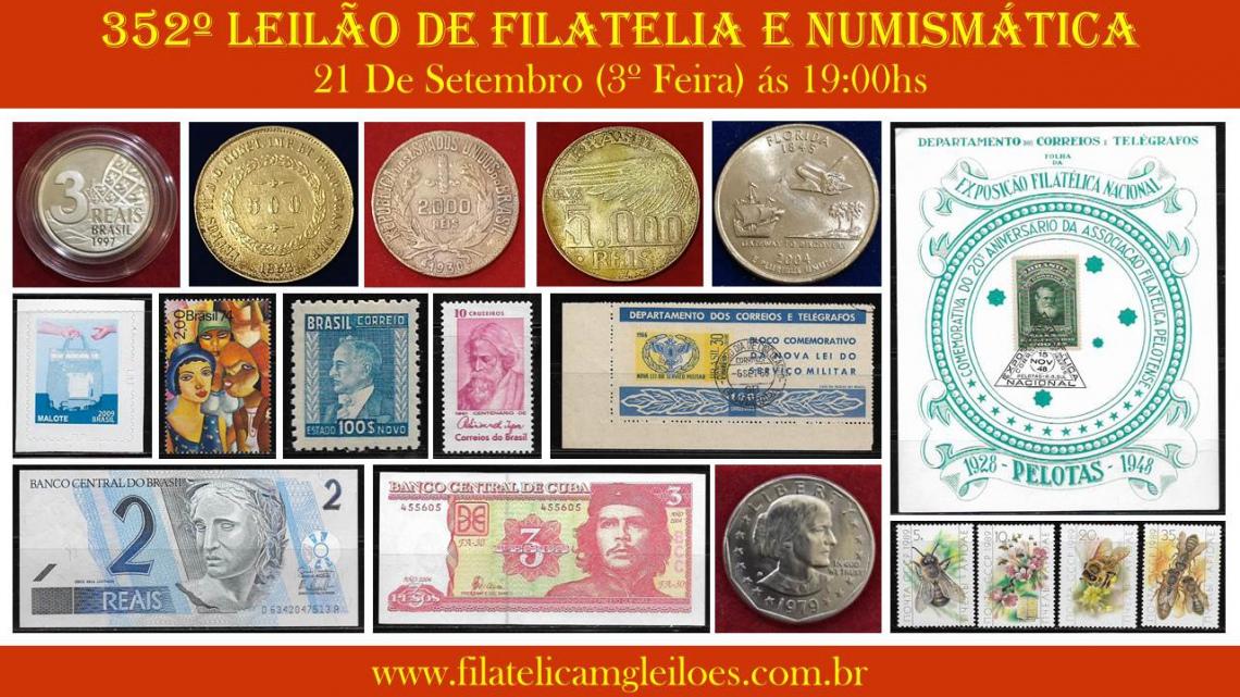 351º Leilão de Filatelia e Numismática