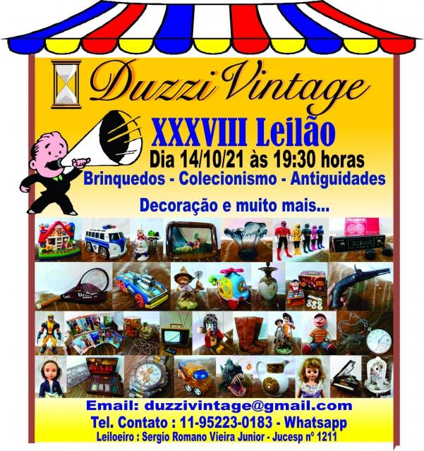 XXXVIII Leilão DuzziVintage- Brinquedos-Colecionismo-Antiguidades-Decoração e muito mais...