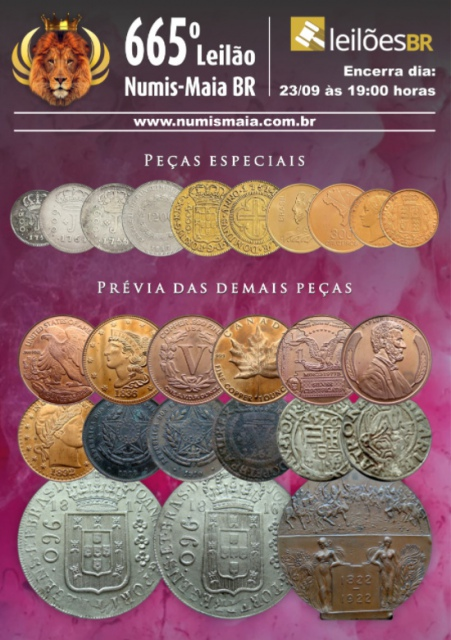 665º Leilão Numis - Maia BR - Ouro e Prata
