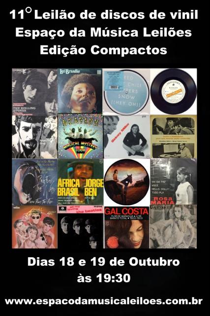 11º Grande Leilão de Discos de Vinil - Espaço da Música Leilões - Edição Compactos - Rock, MPB