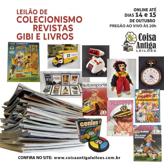 Leilão de Colecionismo, Álbum, Gibis, Revistas e Livros
