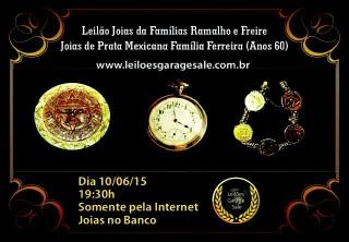 LEILÃO DE JOIAS DA FAMÍLIA RAMALHO E FREIRE