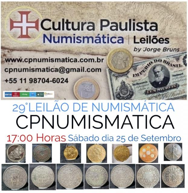 29º LEILÃO CULTURA PAULISTA NUMISMÁTICA
