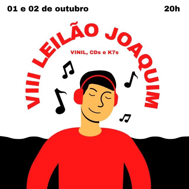 VIII LEILÃO JOAQUIM DE VINIS, CDS E K7S