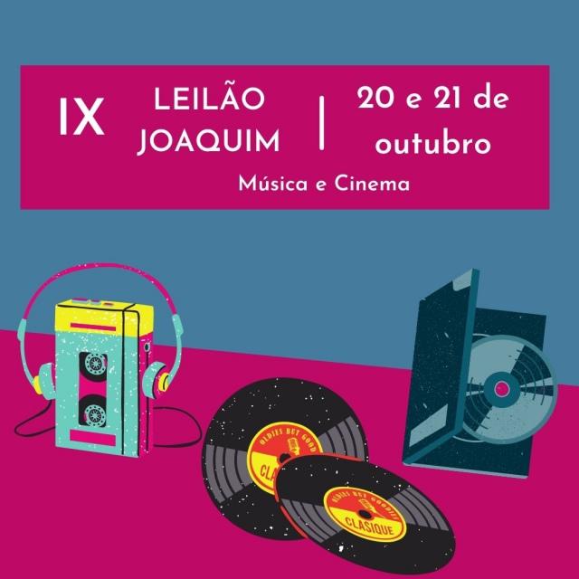 XIX LEILÃO JOAQUIM DE MÚSICA E CINEMA
